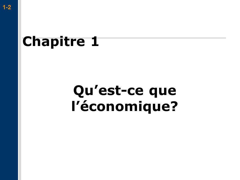 1-2 Chapitre 1 Quest-ce que léconomique?