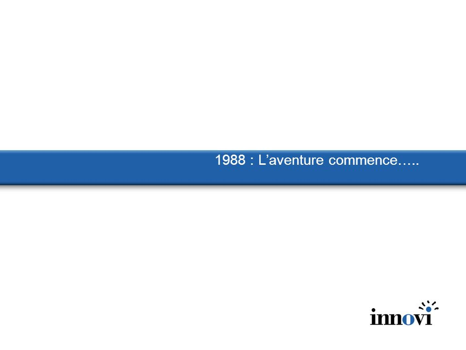 1988 : Laventure commence…..