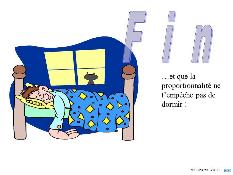 …et que la proportionnalité ne tempêche pas de dormir ! © Y. Péguiron - 02.09.01