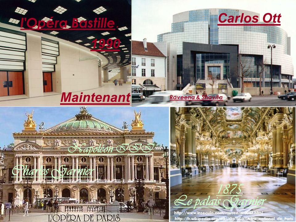 http://fr.wikipedia.org/wiki/Op%C3%A9ra_national_de_Paris Le palais Garnier l Opéra Bastille.