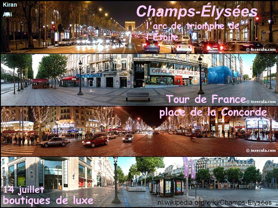 Champs-Élysées Tour de France boutiques de luxe l arc de triomphe de l Étoile 14 juillet place de la Concorde nl.wikipedia.org/wiki/Champs-Elysées Kiran Ani