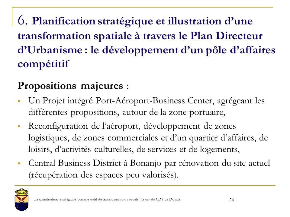 6. Planification stratégique et illustration dune transformation spatiale à travers le Plan Directeur dUrbanisme : le développement dun pôle daffaires
