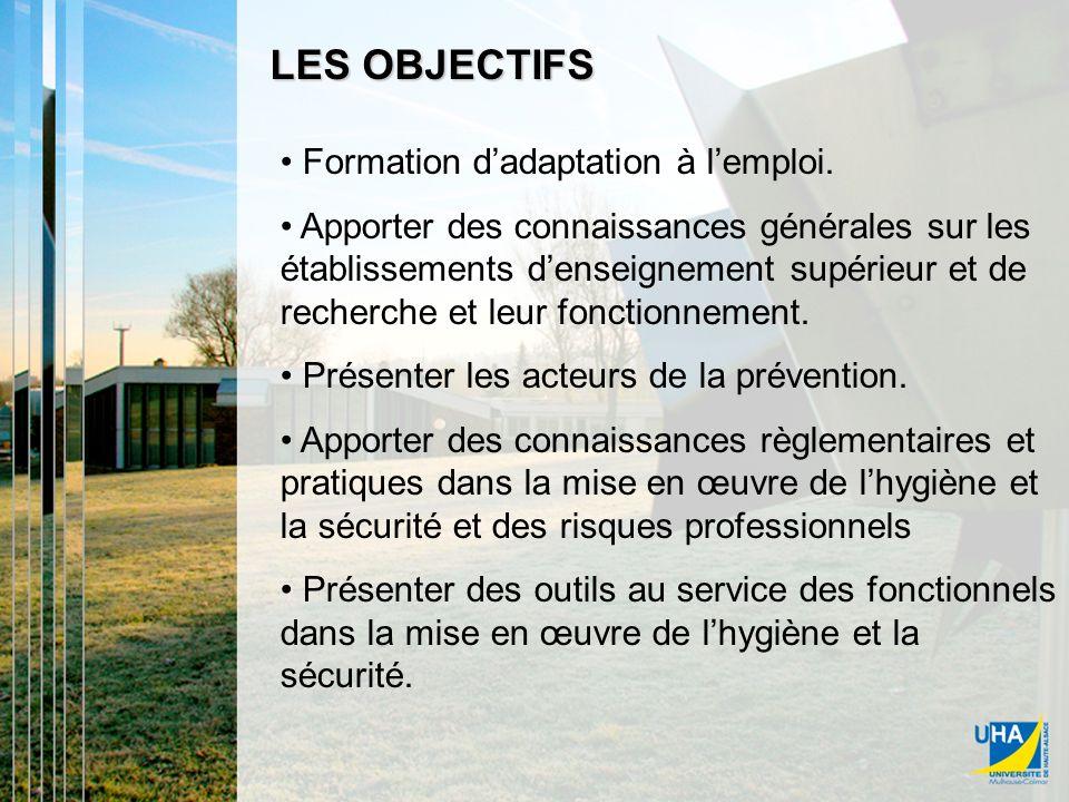 LES OBJECTIFS Formation dadaptation à lemploi.