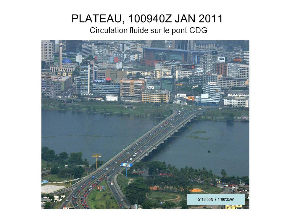 PLATEAU, 100940Z JAN 2011 Circulation fluide sur le pont CDG 5°18 55N / 4°00 35W