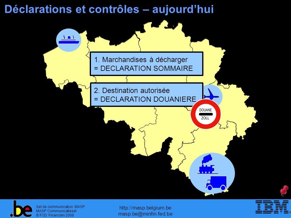 Set de communication MASP MASP Communicatieset © FOD Financiën 2008 http://masp.belgium.be masp.be@minfin.fed.be Déclarations et contrôles – aujourdhu