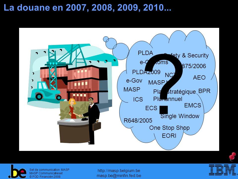 Set de communication MASP MASP Communicatieset © FOD Financiën 2008 http://masp.belgium.be masp.be@minfin.fed.be Table des matières 1.Introduction 2.ICS - Import Control System 3.ECS – Export Control System 4.Programme MASP.be