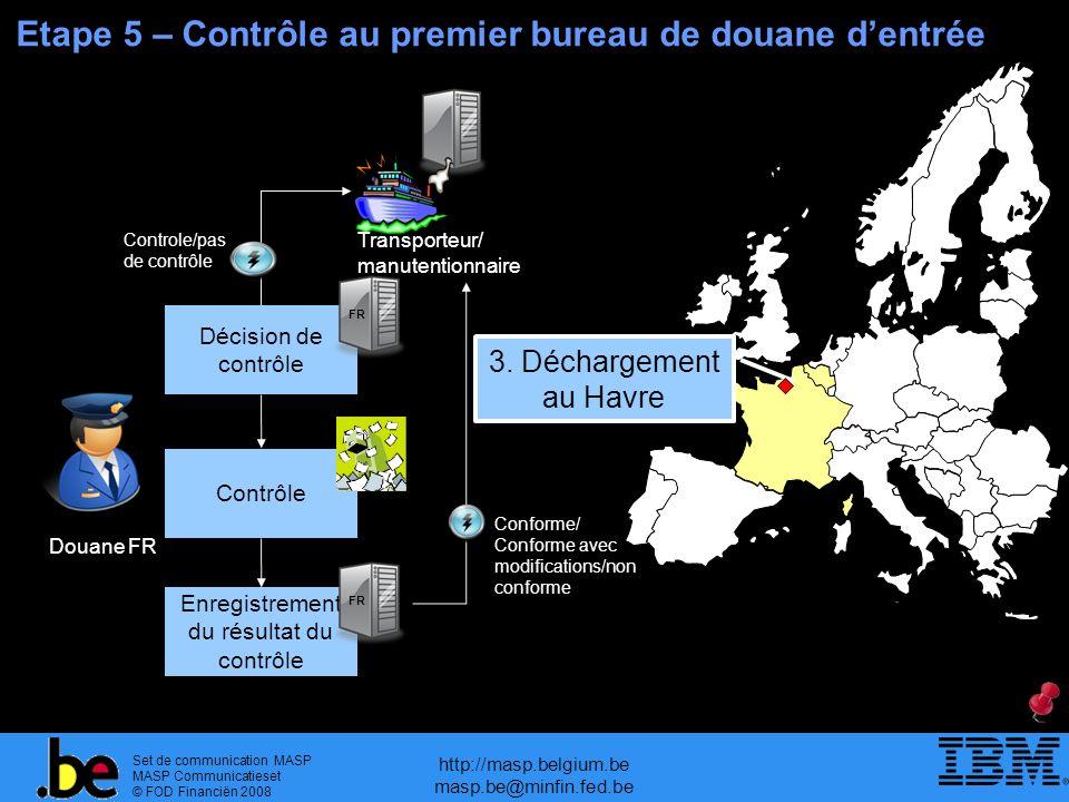 Set de communication MASP MASP Communicatieset © FOD Financiën 2008 http://masp.belgium.be masp.be@minfin.fed.be Etape 5 – Contrôle au premier bureau