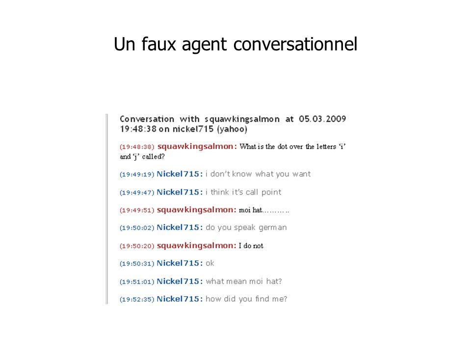 Un faux agent conversationnel
