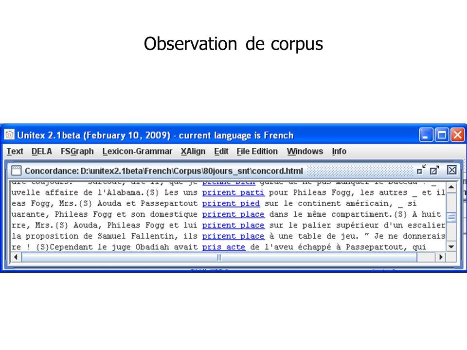 Observation de corpus