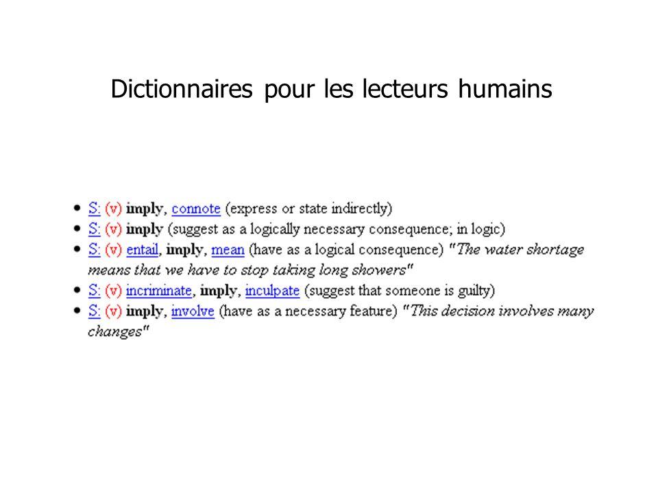 Dictionnaires pour les lecteurs humains