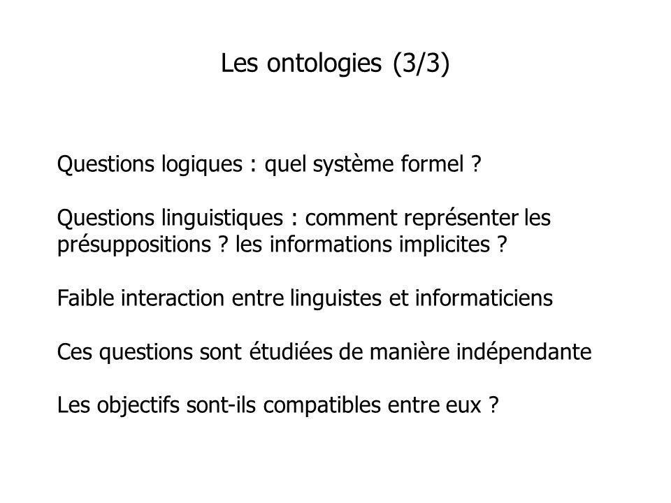 Questions logiques : quel système formel .