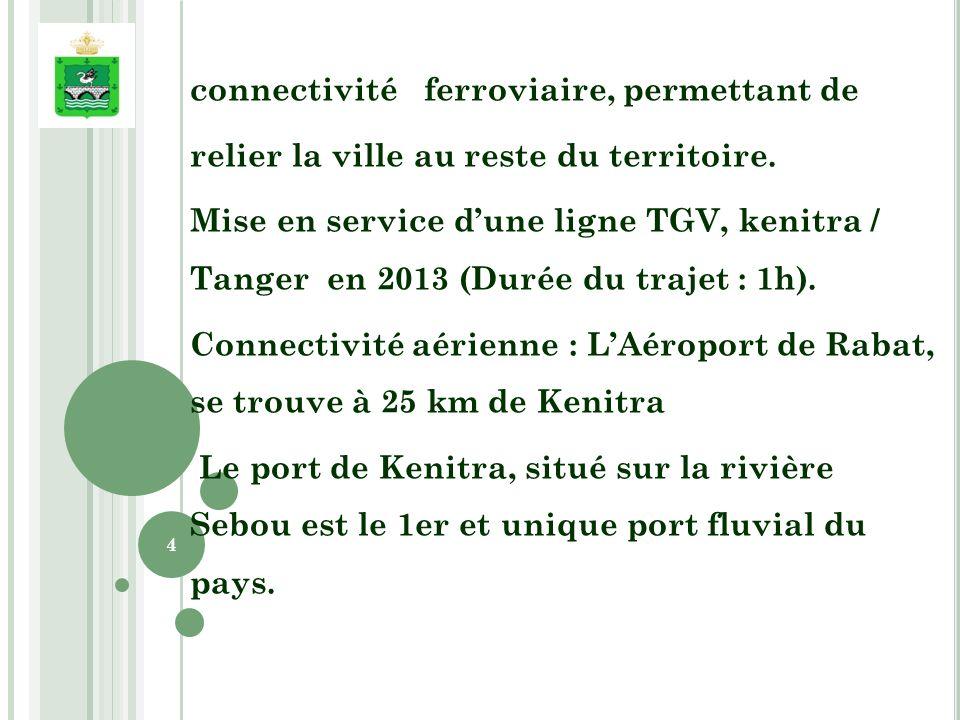 connectivité ferroviaire, permettant de relier la ville au reste du territoire.