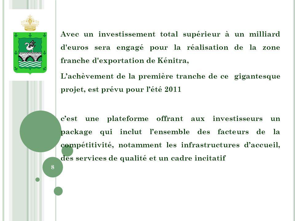 Le Fonds Hassan II pour le développement économique et social contribuera au financement des infrastructures hors site dans la limite de 70 millions de dirhams.