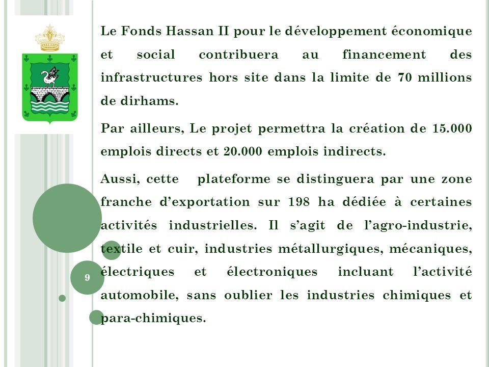 Le reste de la plateforme (146 ha) sera réservé à laménagement dune zone libre qui sera à vocation généraliste pour dautres activités industrielles.