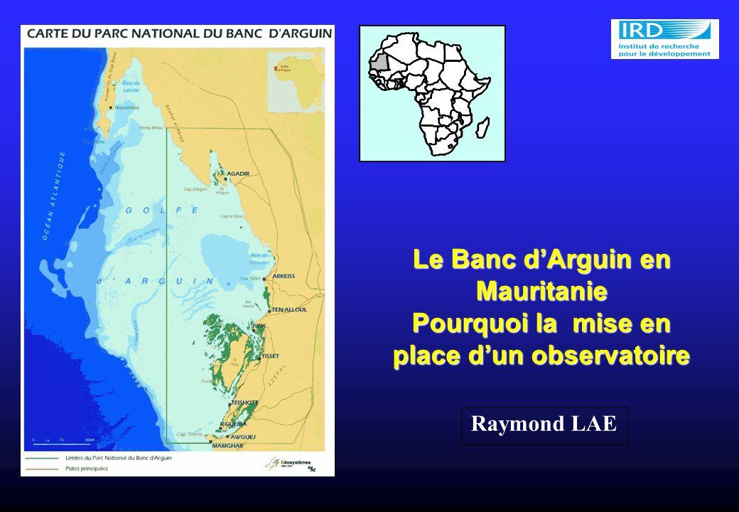 Le Banc dArguin en Mauritanie Pourquoi la mise en place dun observatoire Raymond LAE