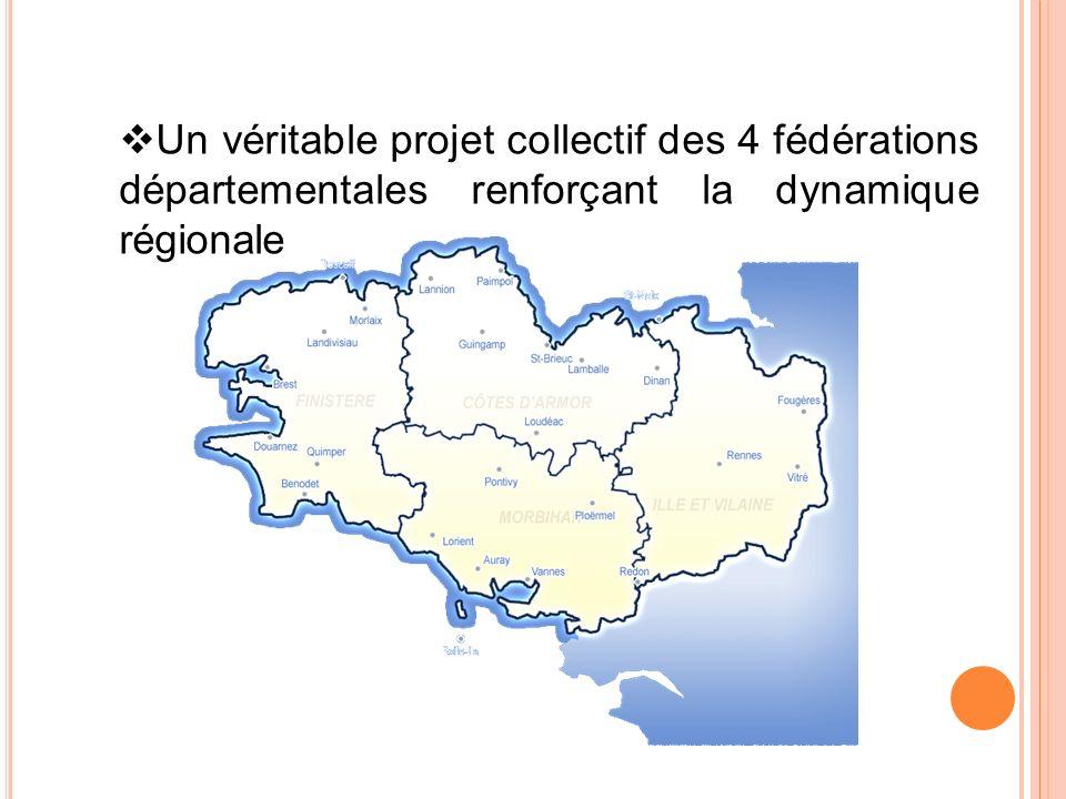 Un véritable projet collectif des 4 fédérations départementales renforçant la dynamique régionale