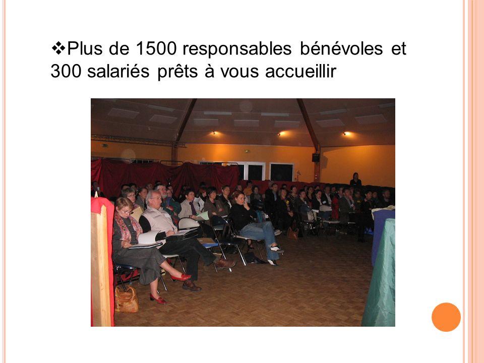 Plus de 1500 responsables bénévoles et 300 salariés prêts à vous accueillir