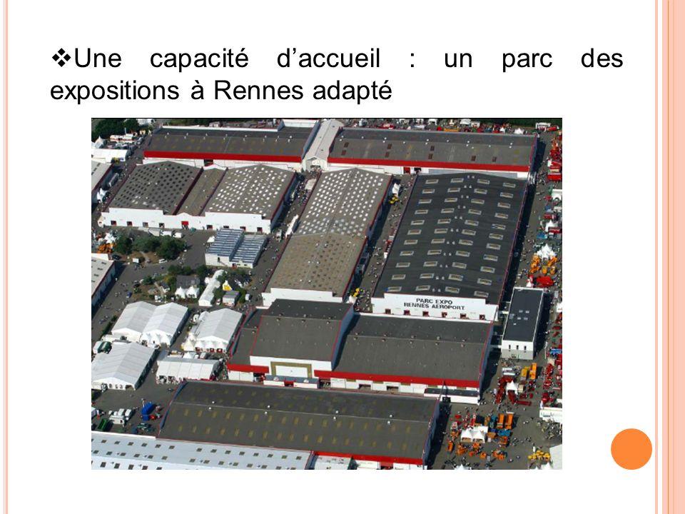 Une capacité daccueil : un parc des expositions à Rennes adapté