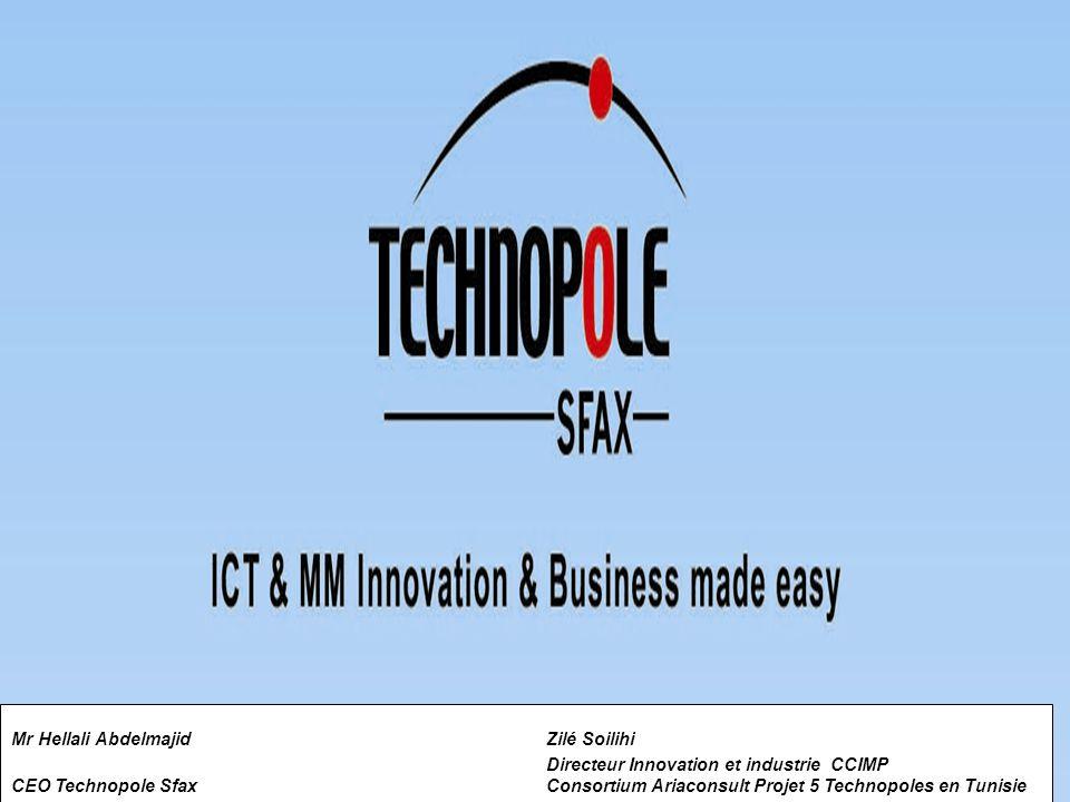 Mr Hellali Abdelmajid Zilé Soilihi Directeur Innovation et industrie CCIMP CEO Technopole Sfax Consortium Ariaconsult Projet 5 Technopoles en Tunisie