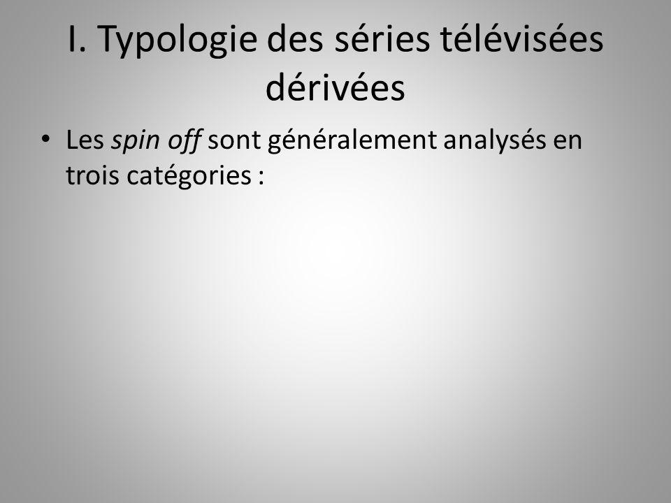 Les spin off sont généralement analysés en trois catégories :