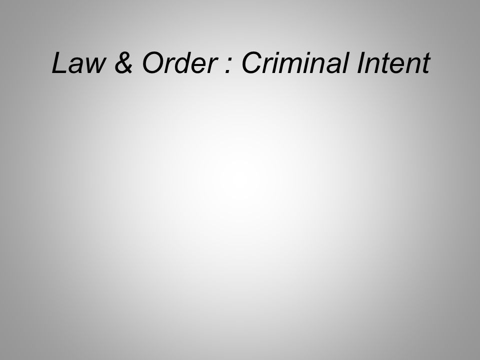 Law & Order : Criminal Intent