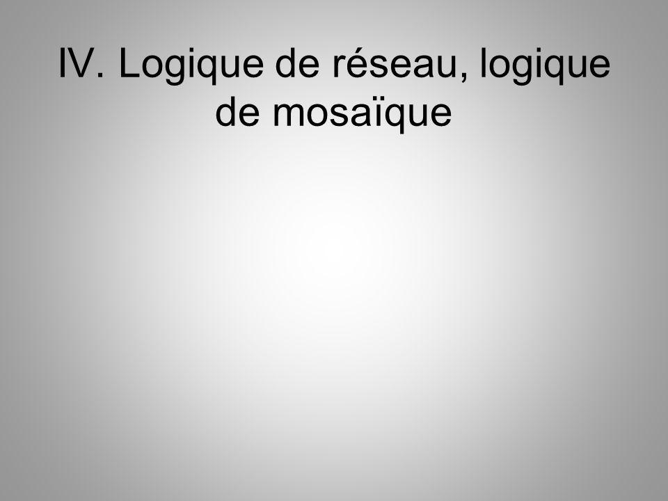 IV. Logique de réseau, logique de mosaïque