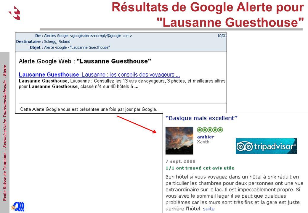 Ecole Suisse de Tourisme – Schweizerische Tourismusfachscule - Sierre Résultats de Google Alerte pour Lausanne Guesthouse