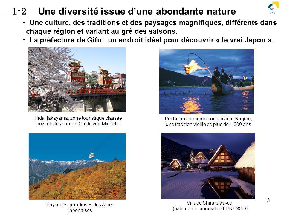1-2 Une diversité issue dune abondante nature 3 Une culture, des traditions et des paysages magnifiques, différents dans chaque région et variant au g