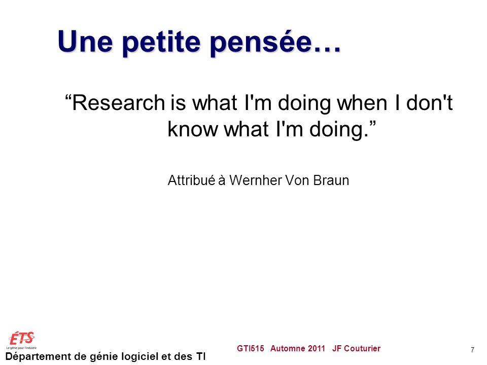 Département de génie logiciel et des TI Créer un modèle du domaine Partir dun modèle existant Analyse linguistique Comme pour les D.