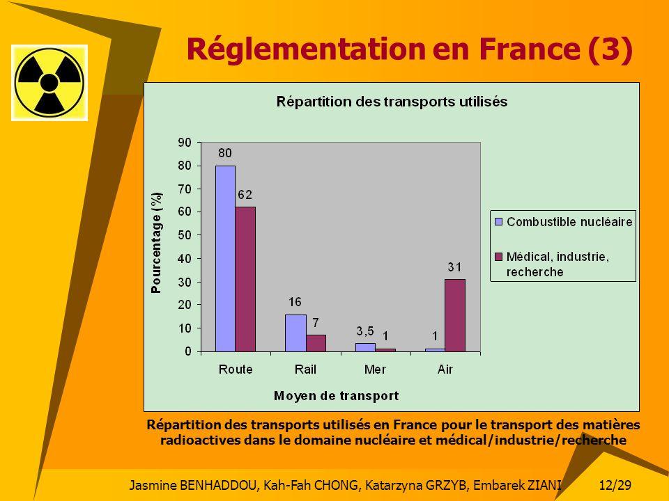 12/29 Jasmine BENHADDOU, Kah-Fah CHONG, Katarzyna GRZYB, Embarek ZIANI Réglementation en France (3) Répartition des transports utilisés en France pour