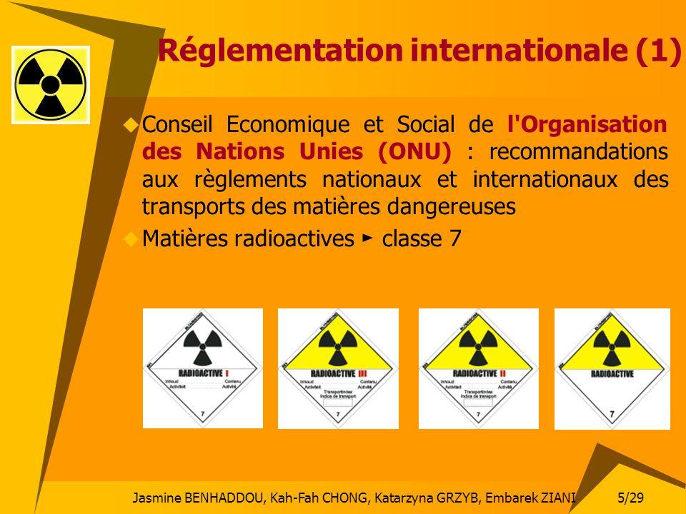 5/29 Jasmine BENHADDOU, Kah-Fah CHONG, Katarzyna GRZYB, Embarek ZIANI Réglementation internationale (1) Conseil Economique et Social de l'Organisation