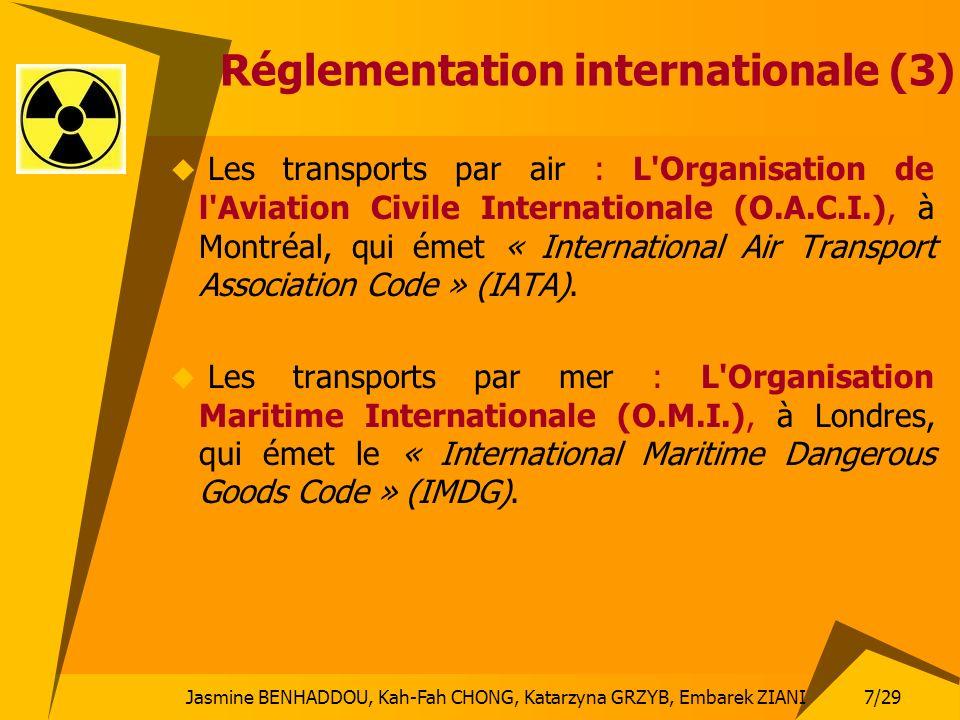 7/29 Jasmine BENHADDOU, Kah-Fah CHONG, Katarzyna GRZYB, Embarek ZIANI Réglementation internationale (3) Les transports par air : L'Organisation de l'A