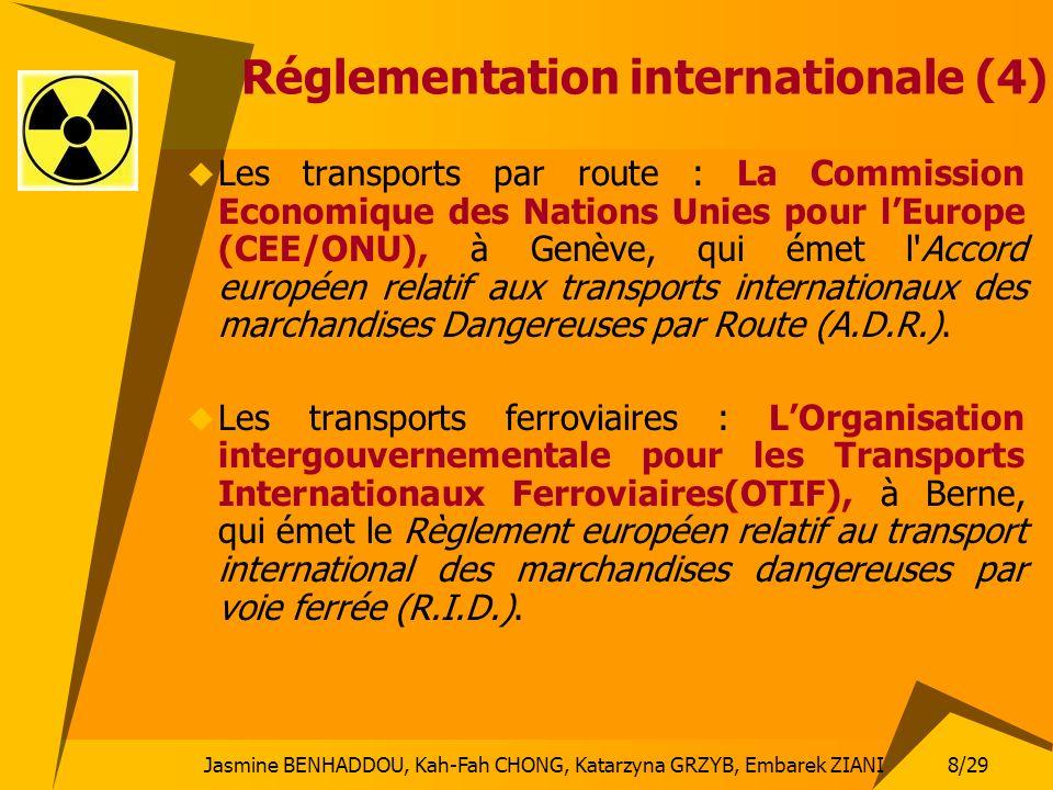 8/29 Jasmine BENHADDOU, Kah-Fah CHONG, Katarzyna GRZYB, Embarek ZIANI Réglementation internationale (4) Les transports par route : La Commission Econo