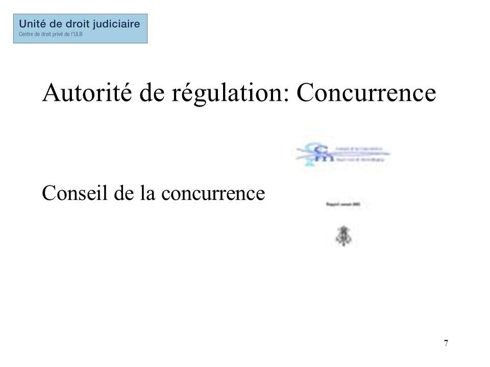 7 Autorité de régulation: Concurrence Conseil de la concurrence