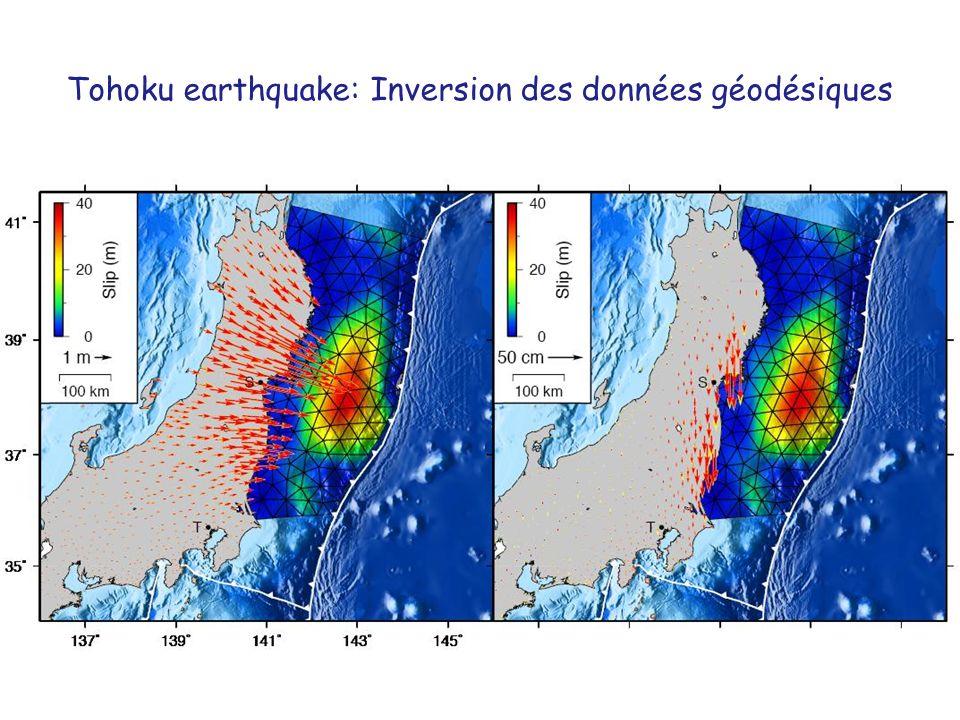 Tohoku earthquake: Inversion des données géodésiques
