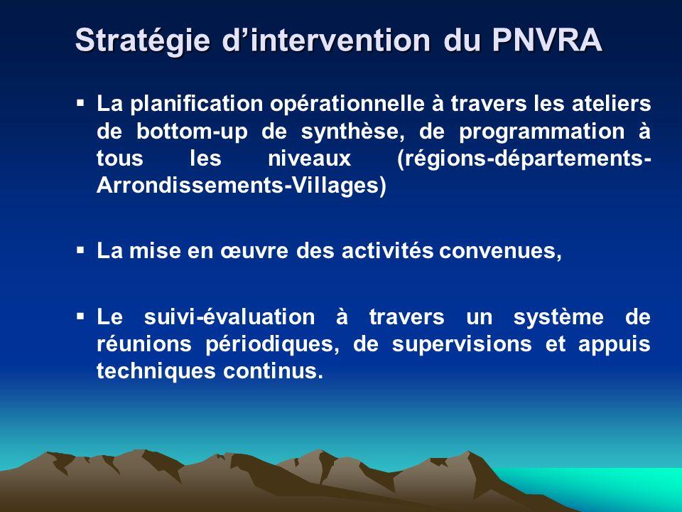 La planification opérationnelle à travers les ateliers de bottom-up de synthèse, de programmation à tous les niveaux (régions-départements- Arrondisse