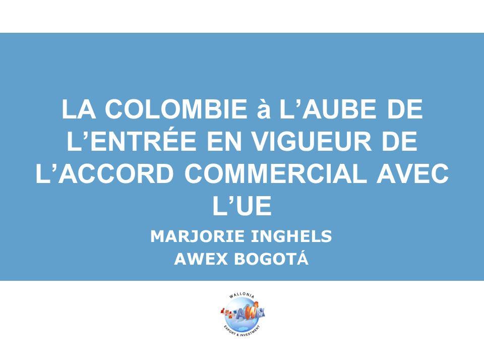 Actions: FIB 2012 1-5 Octobre http://www.feriainternacional.com/http://www.feriainternacional.com/ Colombia Minera 2013 http://www.miningcolombia.com/http://www.miningcolombia.com/ Conseils: Faire le premier pas – oser aller sur place, vous permettra de vous rendre compte du potentiel du marché.
