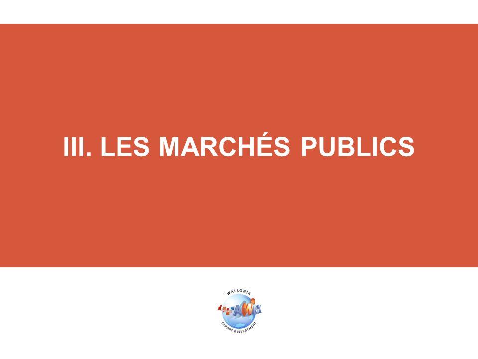 III. LES MARCHÉS PUBLICS