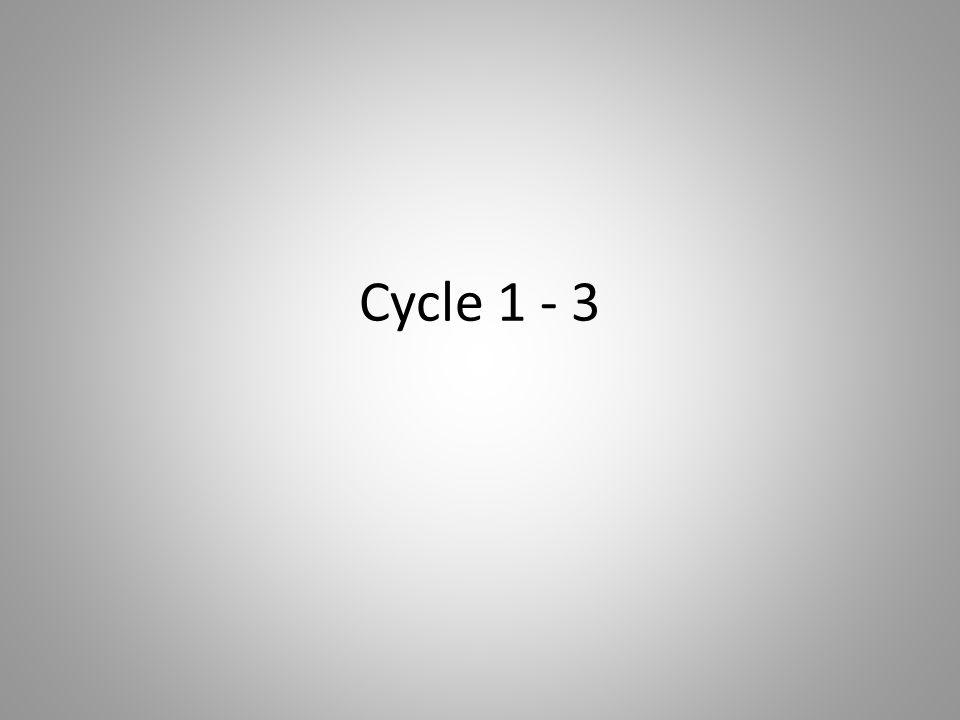 Cycle 1 - 3