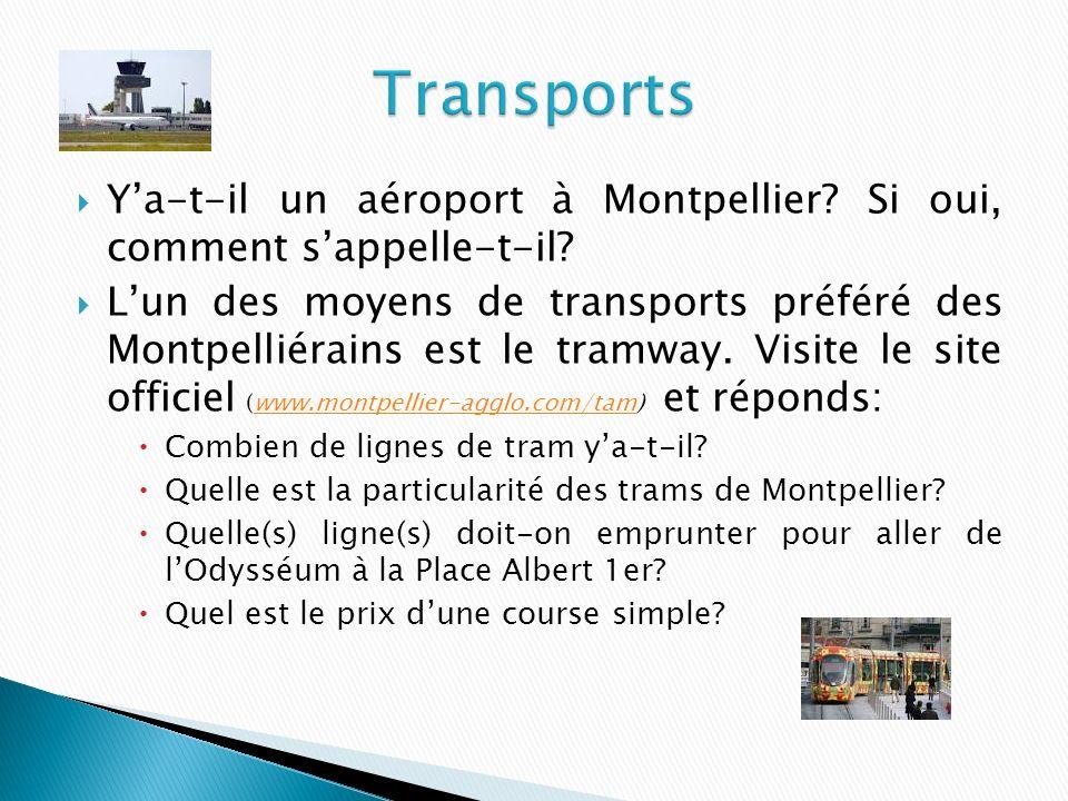 Ya-t-il un aéroport à Montpellier.Si oui, comment sappelle-t-il.