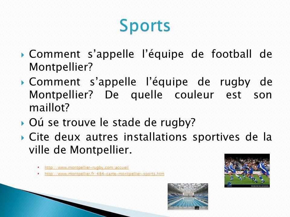 Comment sappelle léquipe de football de Montpellier.