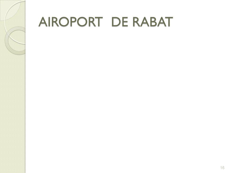 AIROPORT DE RABAT 16