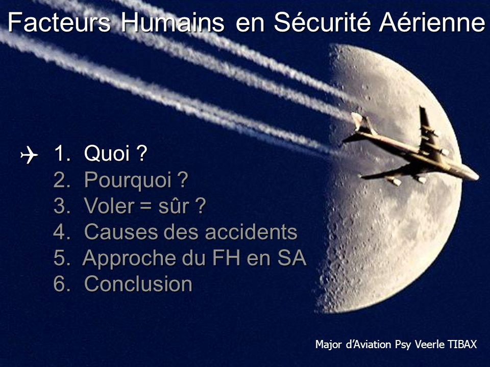 Human Performance & Limitations: Human Factors in Aviation Safety Dont let it be you!