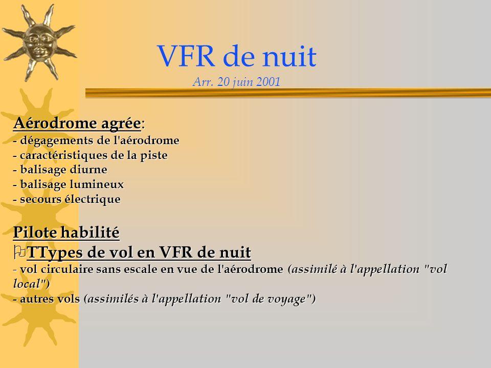 VFR de nuit Arr.