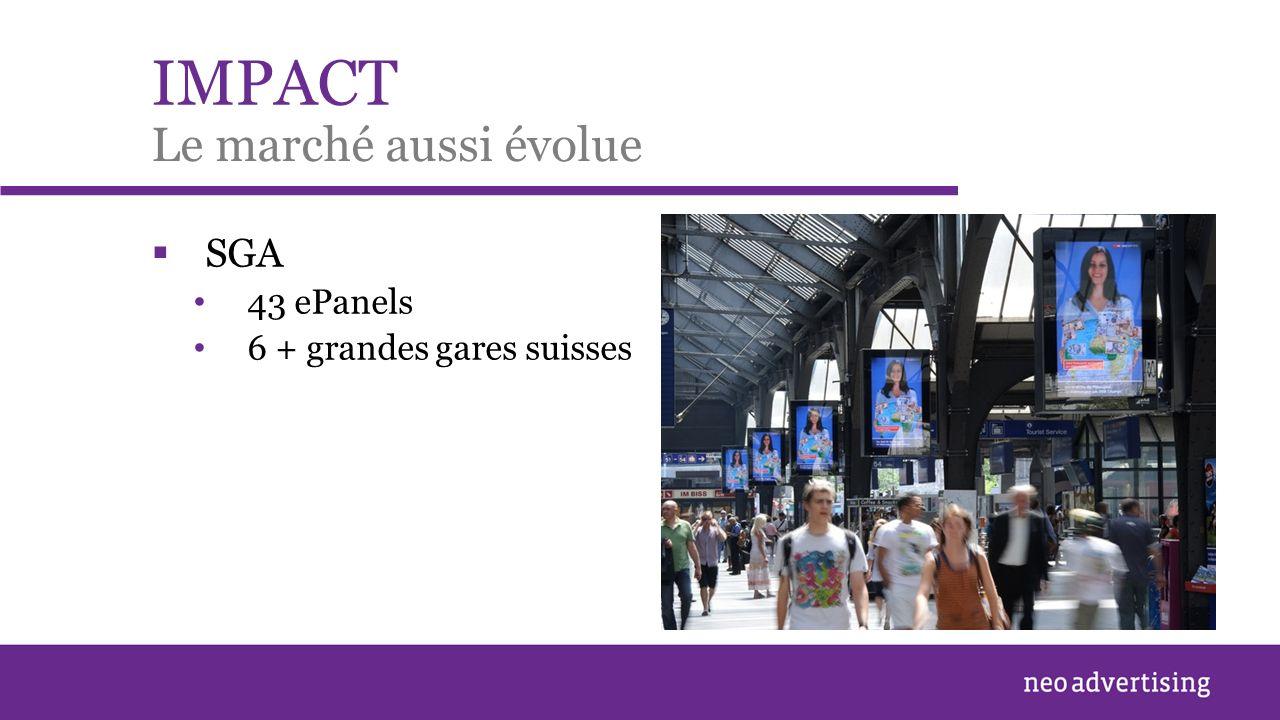 IMPACT SGA 43 ePanels 6 + grandes gares suisses Le marché aussi évolue