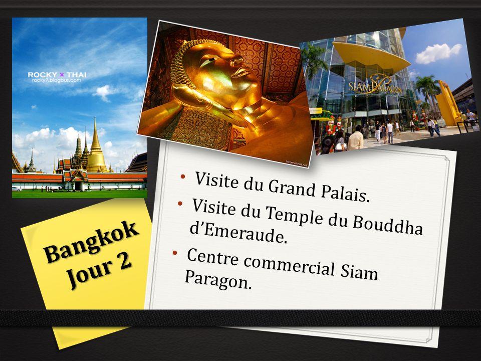 Visite du Grand Palais. Visite du Temple du Bouddha dEmeraude. Centre commercial Siam Paragon. Bangkok Jour 2