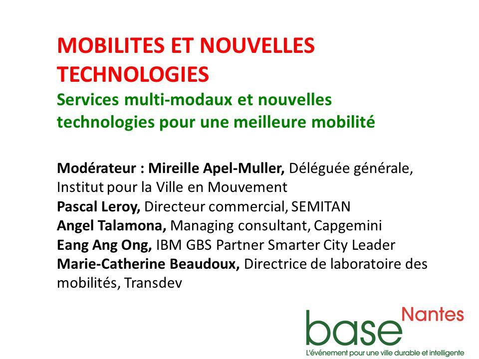 MOBILITES ET NOUVELLES TECHNOLOGIES Services multi-modaux et nouvelles technologies pour une meilleure mobilité Eang Ang Ong, IBM GBS Partner Smarter City Leader