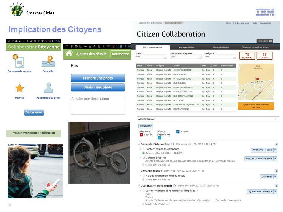 © 2012 IBM Corporation Smarter Cities 7 Implication des Citoyens