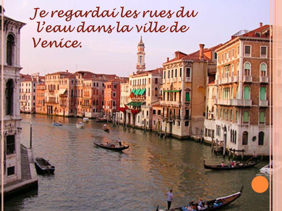 Je regardai les rues du leau dans la ville de Venice.