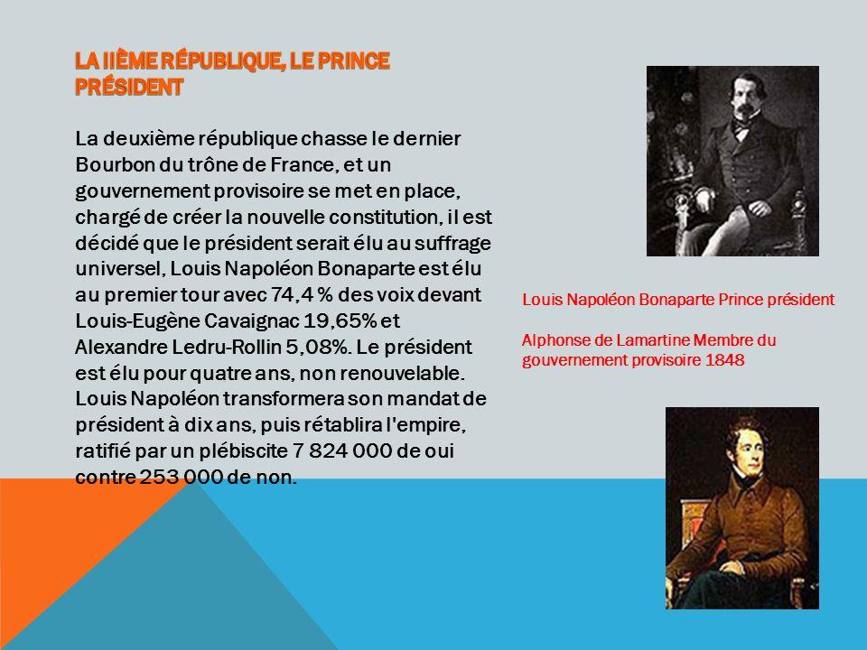 Louis Napoléon Bonaparte Prince président Alphonse de Lamartine Membre du gouvernement provisoire 1848